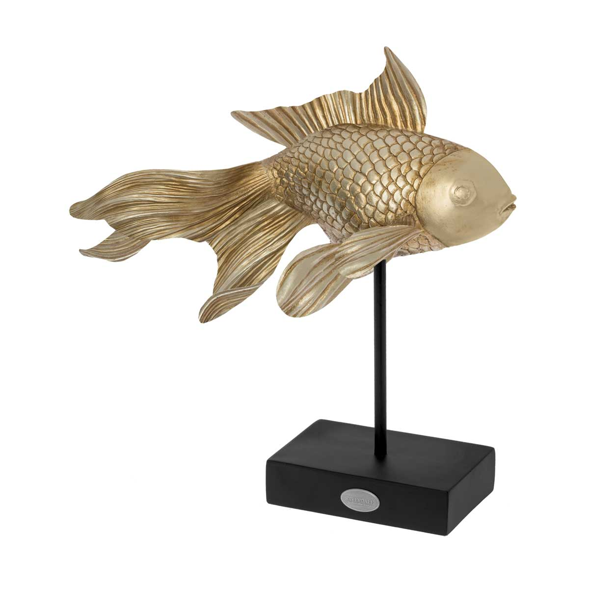 Riverdale Ornament Fish goud 31cm