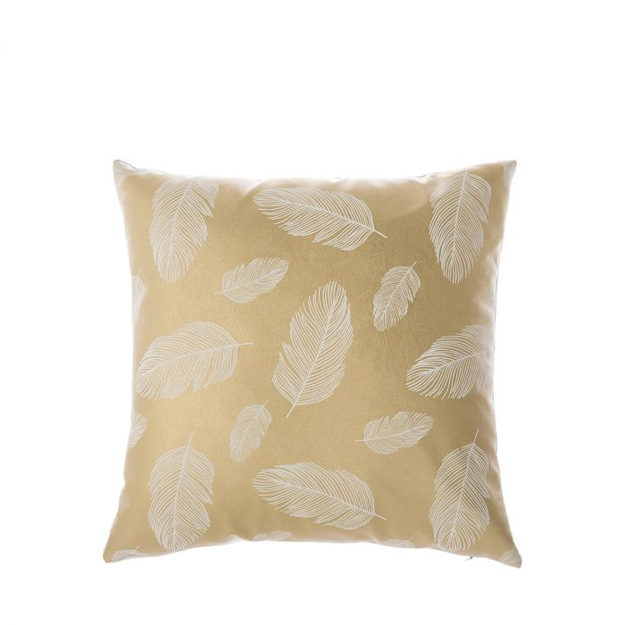 Cushion-Feathers-gold-45x45cm