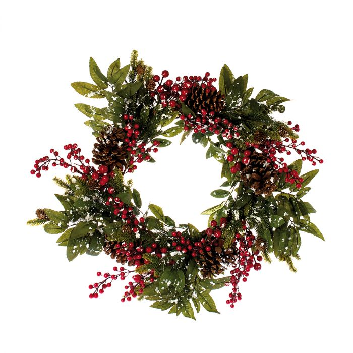 Wreath-Noël-red-66cm