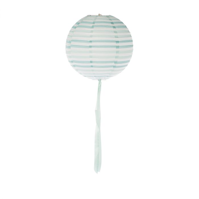 Lampion-Stripe-mint/wh-30cm