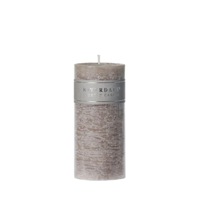 Candle-Pillar-L.Grey-7.5x15cm