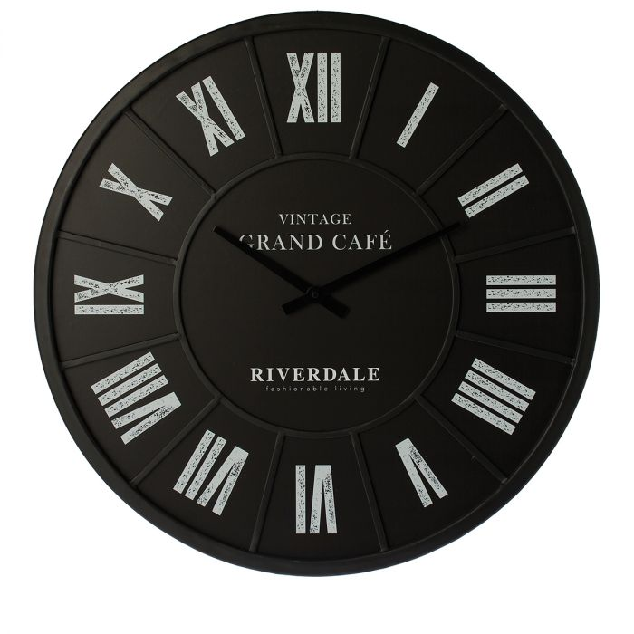Wandklok-Grand-Cafe-black-63cm