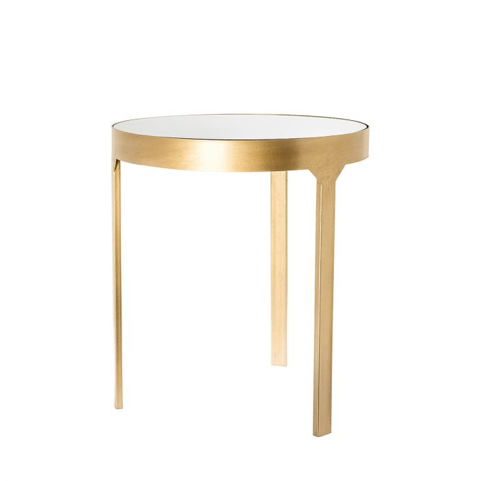 Riverdale Sidetable Ovaal.Sidetable Amaro Gold 44cm