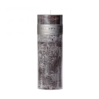 Candle-Pillar-Dark-grey-7.5x23cm