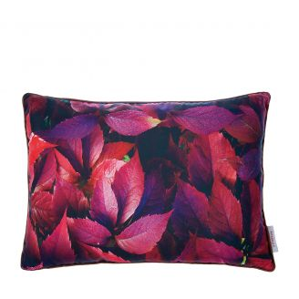 Cushion-Leafs-burgundy-50x70cm