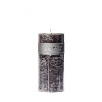 Kaars-Pillar-Dark-grey-7.5x15cm