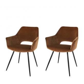 Dining-chair-1set2-Eve-mocha-80cm