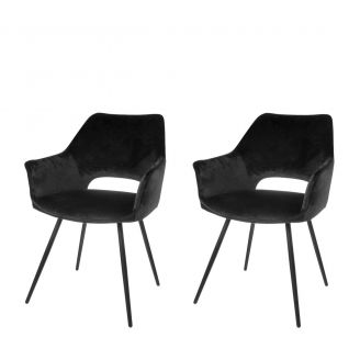 Dining-chair-1set2-Eve-black-80cm