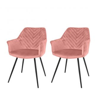 Dining-chair-1set/2-Lindy-pink-80cm