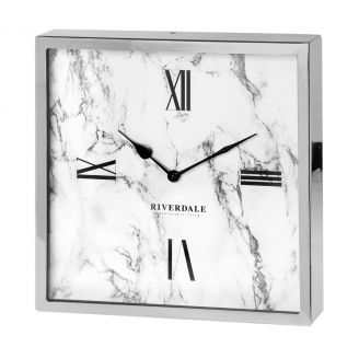 Table-clock-Chuck-marble-silver-30c