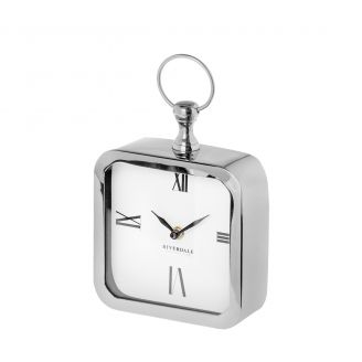 Table-clock-Chuck-silver-20cm