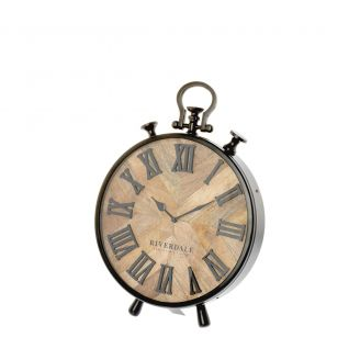 Table-clock-Nate-brown-42cm