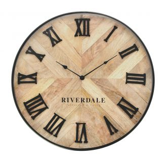 Wall-clock-Nate-brown-60cm