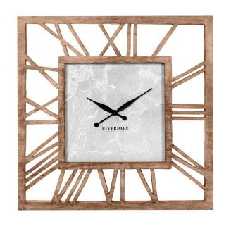 Wall-clock-Chuck-wood-brown-90cm-SO