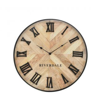 Wall-clock-Nate-brown-46cm