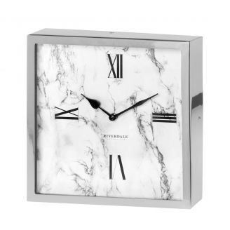 Table-clock-Chuck-marble-silver-25c