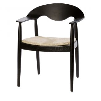 Diningchair-Eden-black/beige-81cm