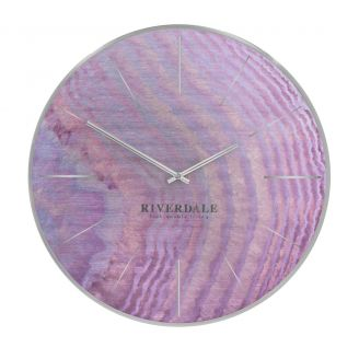 Wall-clock-Brixton-pink-oil-50cm