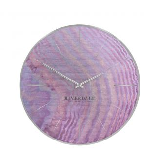 Wall-clock-Brixton-pink-oil-30cm