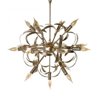 Lamp-hanging-Leafs-silver-75cm