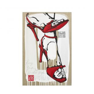 Artwork-Keep-your-heels-high-60cm