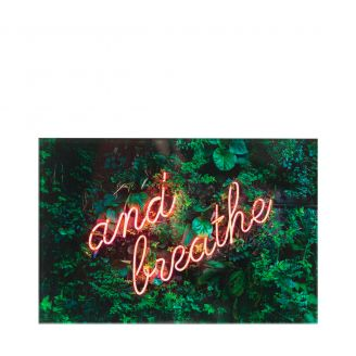 Wall-photo-Breathe-groen-50x70cm